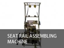 Seat rail assembling machine