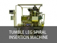 Tumble leg spiral insertion machine